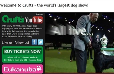 Live-streaming fra Crufts